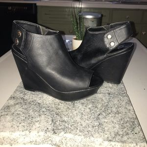 Black Candies wedges size 6.5